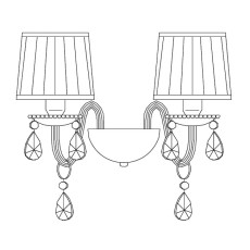 Italamp Wall lamp 440/AP2 L 34 cm 2 Lights E14 Dimmable