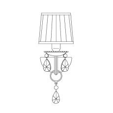 Italamp Wall lamp 440/AP1 15x32 cm 1 Light E14 Dimmable
