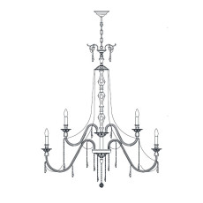 Italamp Chandelier 2291 Ø 180 cm 30 lights E14 Dimmable