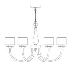 Italamp Chandelier 383 Ø 79 cm E14 Dimmable