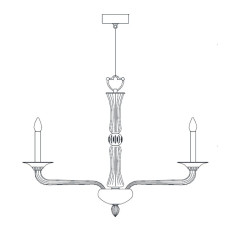 Italamp Chandelier 430 Ø 90 cm E14 Dimmable