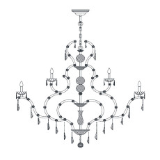 Italamp Chandelier 5101 Ø 70 cm 12 Lights E14 Dimmable