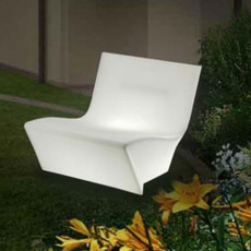 Light armchair 1 light E27 fluo Slide Kami Ichi Light L 80 cm