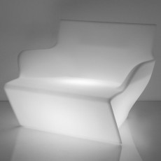Slide armchair with armrests Kami San Light 1 luce E27 L 95 cm