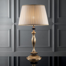Lux Small lamp in hand-decorated brass Klimt 1 light E14 H 47 cm
