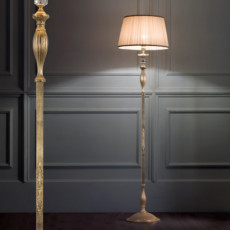 Lux Hand-decorated brass floor lamp Klimt 1 light E27 H 175 cm