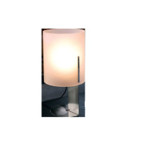 Vesta_Design Small Table Lamp in Stainless Steel and Satin Acrylic Crystal QUARTER E27 ø 18 x 35 h cm
