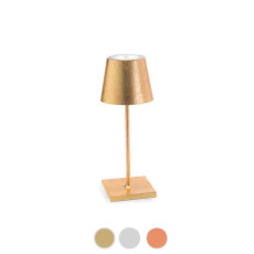 Ai Lati Lights Poldina Mini Pro Metal Rechargeable LED table lamp H 30 cm dimmable By Zafferano