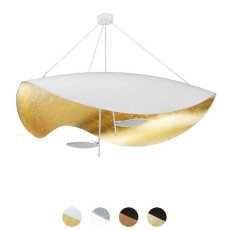 Catellani & Smith Pendant lamp Lederam S2 LED 34W L 100 cm Dimmable