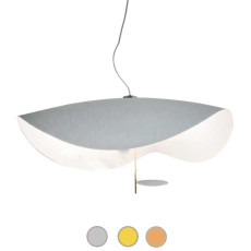 Catellani & Smith Pendant lamp Lederam Manta S1 LED 17W Ø 60 cm