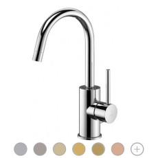 Paffoni Basin mixer with swivel spout without waste Light H 28.3 cm