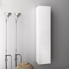 Wall units and columns H 160cm reversible Malmo Gloss white lacquered TFT