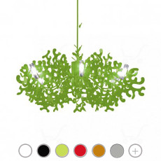 Lumen Center Super Coral 8L Pendant lamp Ø140 8 lights different colors