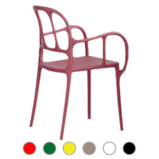 Magis Chair with armrests Milà H 84,5 cm L 55 cm Stackable, Outdoor