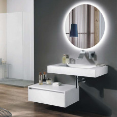 Bluelife Riva Suspended Bathroom Composition with Lavavo, Module and LED Mirror L 90X51 cm
