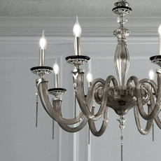 Lux Blown glass chandelier Empire 6 luci E14 Ø 76 cm