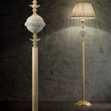 Lux Brass floor lamp Carola 1 light E27 H 175 cm