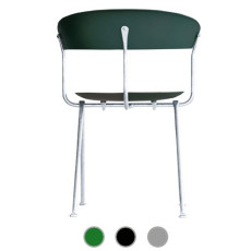 Magis Chair Officina hot galvanized iron and polypropylene H 80 cm L 46 cm, also for outdoor use
