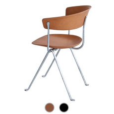 Magis Chair Officina in hot galvanized iron and leather H 80 cm L 58 cm