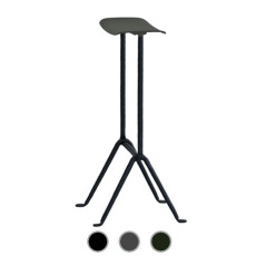 Magis Stool Officina H 75 cm Structure of treated iron cataphoresis and varnished polyester, Also for outdoor use