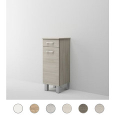 Single base left Gaia L 35 cm with door, drawer and shelves Savini