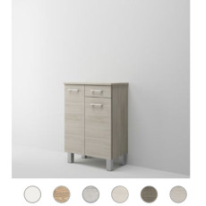 Double base Gaia L 60 cm with two doors, drawer and shelves Savini