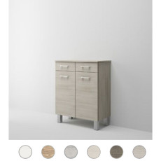 Double base Gaia L 69 cm with two doors, drawer and shelves Savini