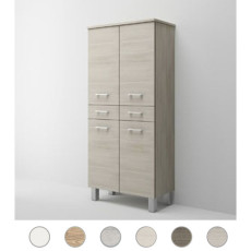 Double column Gaia L 69 cm with four doors, two drawers and shelves Savini