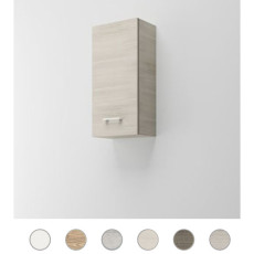 Single wall cabinet left Gaia L 34 cm with door and shelves Savini