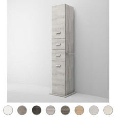 Left swivel column Multiuso L 43 cm with doors, drawers and mirror Savini