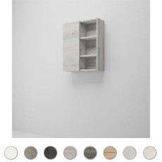 Double wall cabinet Multiuso L 60 cm with door and open compartments Savini