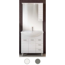 Bathroom cabinet Rigo L 65 cm floor composition with sink, mirror and LED spotlights Savini
