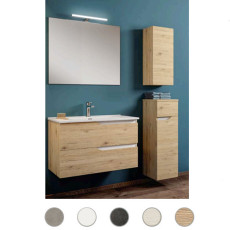 Bathroom cabinet Grace L 60 cm suspended composition with sink, mirror and lamp Savini