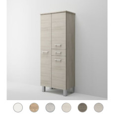 Double column Gaia L 60 cm with three doors, drawer and shelves Savini