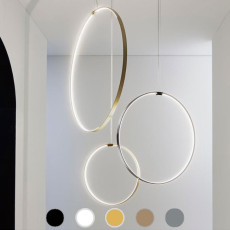 Panzeri Pendant lamp ZERO ROUND VERTICAL LED IP20 without power canopy.