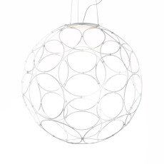 Fabbian Pendant Light Giro LED 17W Ø 67 cm White