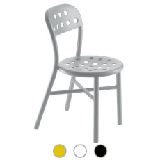 Magis Chair Pipe stackable in aluminum perforated sheet metal H 80 cm L 45 cm, also for outdoor use
