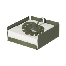 Arti e Mestieri Tropical style Napkin holder Monstera