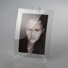 Vesta Picasso Photo frame with easel in transparent acrylic crystal