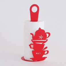 "Arti e Mestieri ""Coffee Cups"" Kitchen Roll Holder"