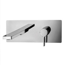 Paffoni Built-in washbasin mixer with spout and aerator l. 200mm Rock L 25x10 cm