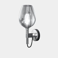 Italamp Wall lamp in glass and metal Rose' L 13x16
