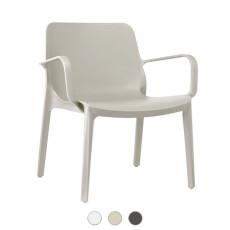 Scab Ginevra Lounge Chair with armrests L 68 cm