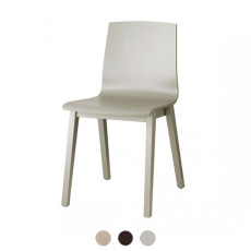 Scab Natural Alice Wood Chair without armrests L 44 cm