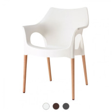 Scab Natural Ola Chair with armrests L 59 cm