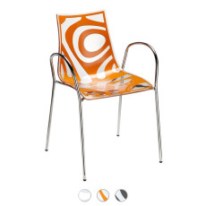 Scab Wave Chair with armrests L 54 cm