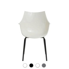 Driade Merdidiana chair in solid ash wood with armrests H 84 cm