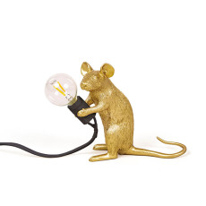 Seletti Table lamp Mouse Lamp Mac 1 Light E12 H 12,5 cm Outdoor