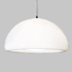 Lumen Center hanging lamp Iceglobe Semi Giant S 3 luci E27 Ø 78 cm