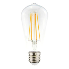 Vintage Light Bulb Linear Line ST64 CLEAR 7.5W E27 2200 K 220/240 V 6.4x14.5 cm Transparent Dimmable DLItalia